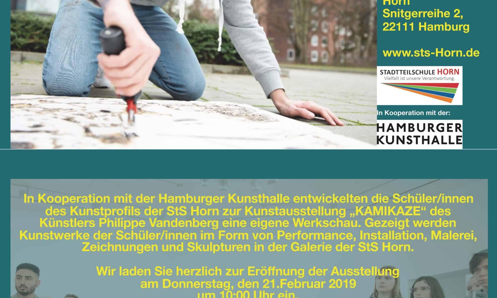 21. Februar 2019; Galerieraum Stadtteilschule Horn; Snitgerreihe 2; 22111 Hamburg